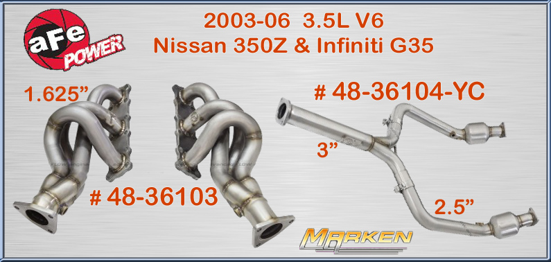 AFE Headers and Crossover Y-Pipe for the 2003-06 Nissan 350Z