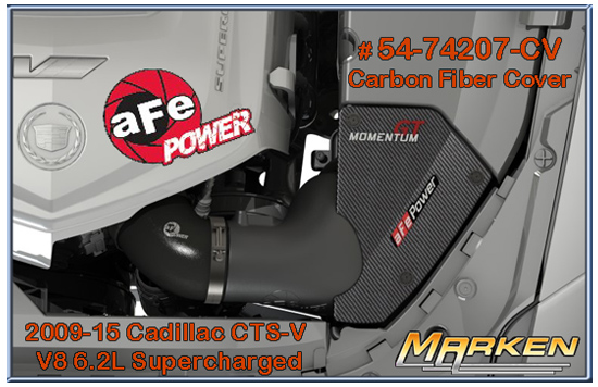 AFE Power Cold Air Intake and Carbon Fiber Cover for 2009-15