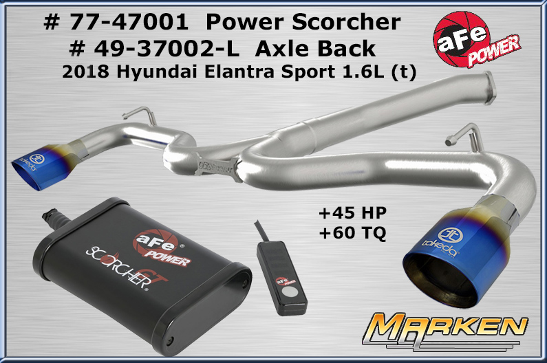 AFE Power has in-line Tuner + Axle Back for 2018 Hyundai
