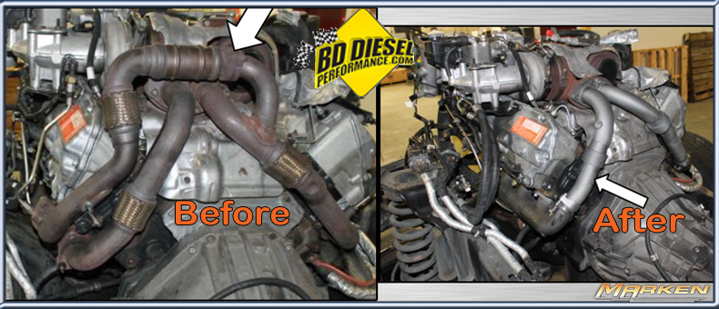 Bd Diesel Uppipe And Exhaust Manifold Kit Part   1041481