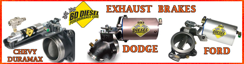 BD Diesel has Exhaust Brakes for Ford, Chevy and Dodge Diesels