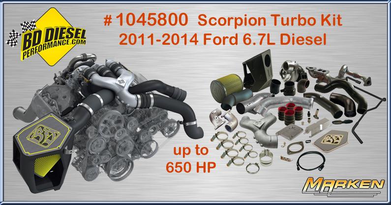 BD Diesel Scorpion Turbo Kit # 1045800 Yeilds Performance