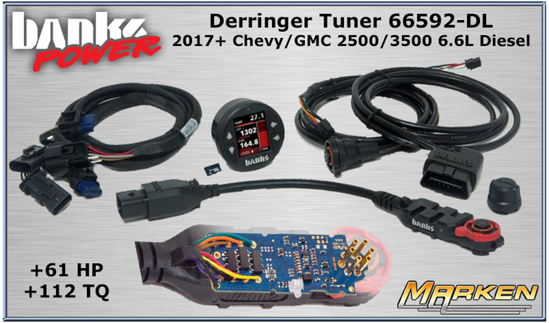 Banks Power Derringer Tuner 66592 for 2017+ Chevy/GMC 2500