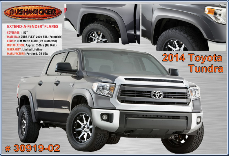 Bushwacker Fender Flares For 2014 Toyota Tundra 30919 02