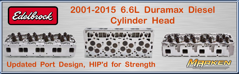 Edelbrock 6 6L Duramax Diesel Cylinder Head