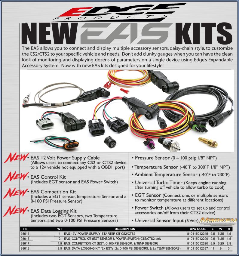 Edge Products: Insight with EAS, Evolution, Evo HT, Chevy