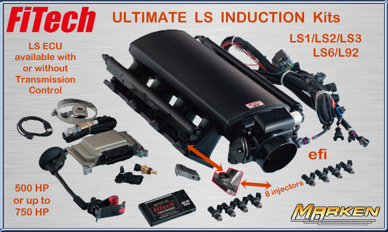 FiTech Ultimate LS Induction Systems for LS1/LS2/LS3/LS6/L92