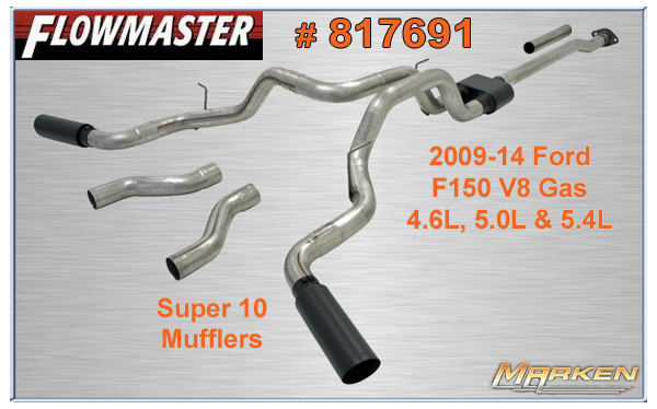 Flowmaster Aggressive Cat Back For Ford F150 817691 817696 Plus