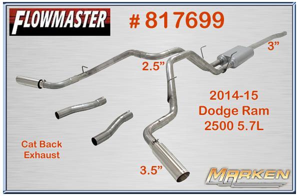Flowmaster Cat Back Part 817699 For The 2014 15 Dodge