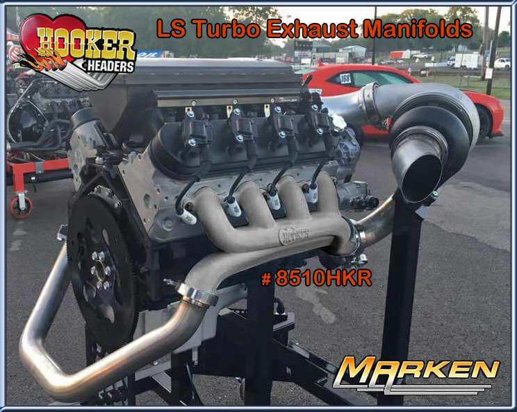 Hooker LS Turbo Exhaust Manifolds # 8510HKR