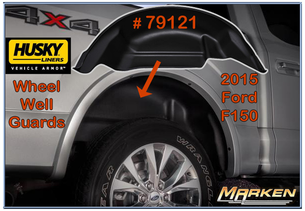 Husky Rear Wheel Well Guards Part 79121 And X Act