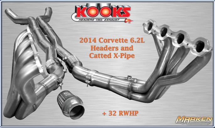 Kooks Headers & X-Pipe 2014 Corvette Stingray 6 2 ltr @ SEMA AND