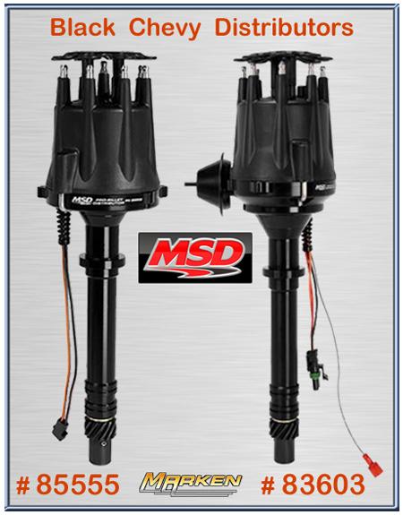 MSD 85555 BLACK CHEVY V8 PRO-BILLET DISTRIBUTOR ALL NEW IN STOCK