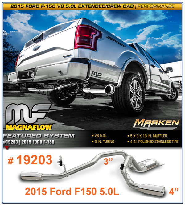 magnaflow has many cat back options for the 2015 ford f150. Black Bedroom Furniture Sets. Home Design Ideas