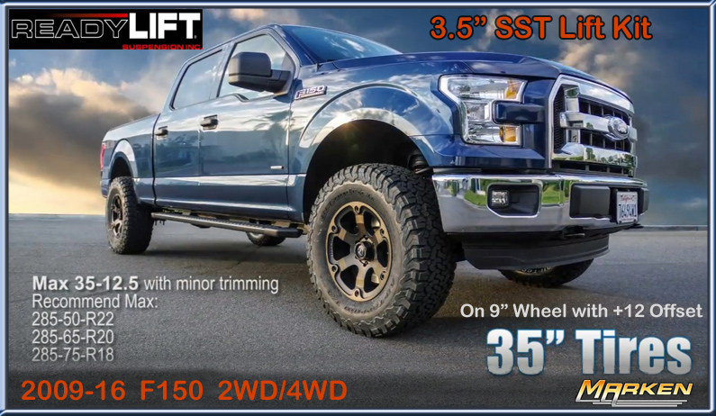 Readylift sst 3 5 quot mid level lift for 2009 2016 ford f150