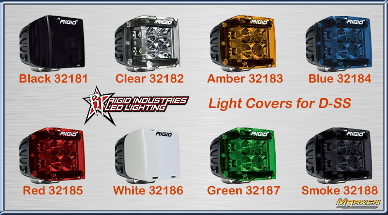 rigid industries new d ss (dually side shooter) led lights withmitch kistner, rigid industries a variety of colored lens covers are available as well
