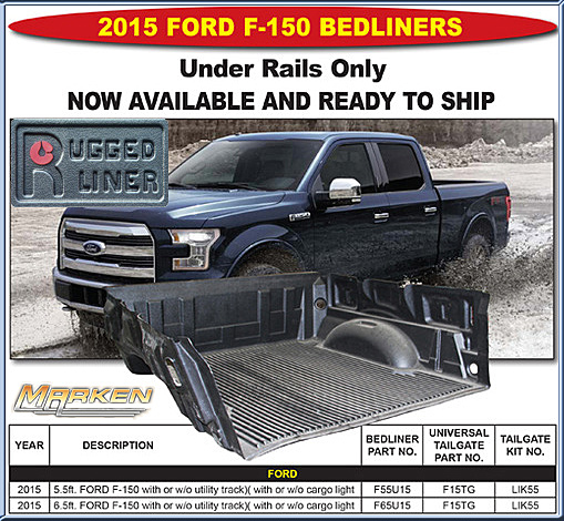 Nice Rugged Liner Bedliner Available For The 2015 Ford F150 Part # F55u15 And  Part # F65u15 AND 2015 Ford U0026 Chevy Tonneau Covers