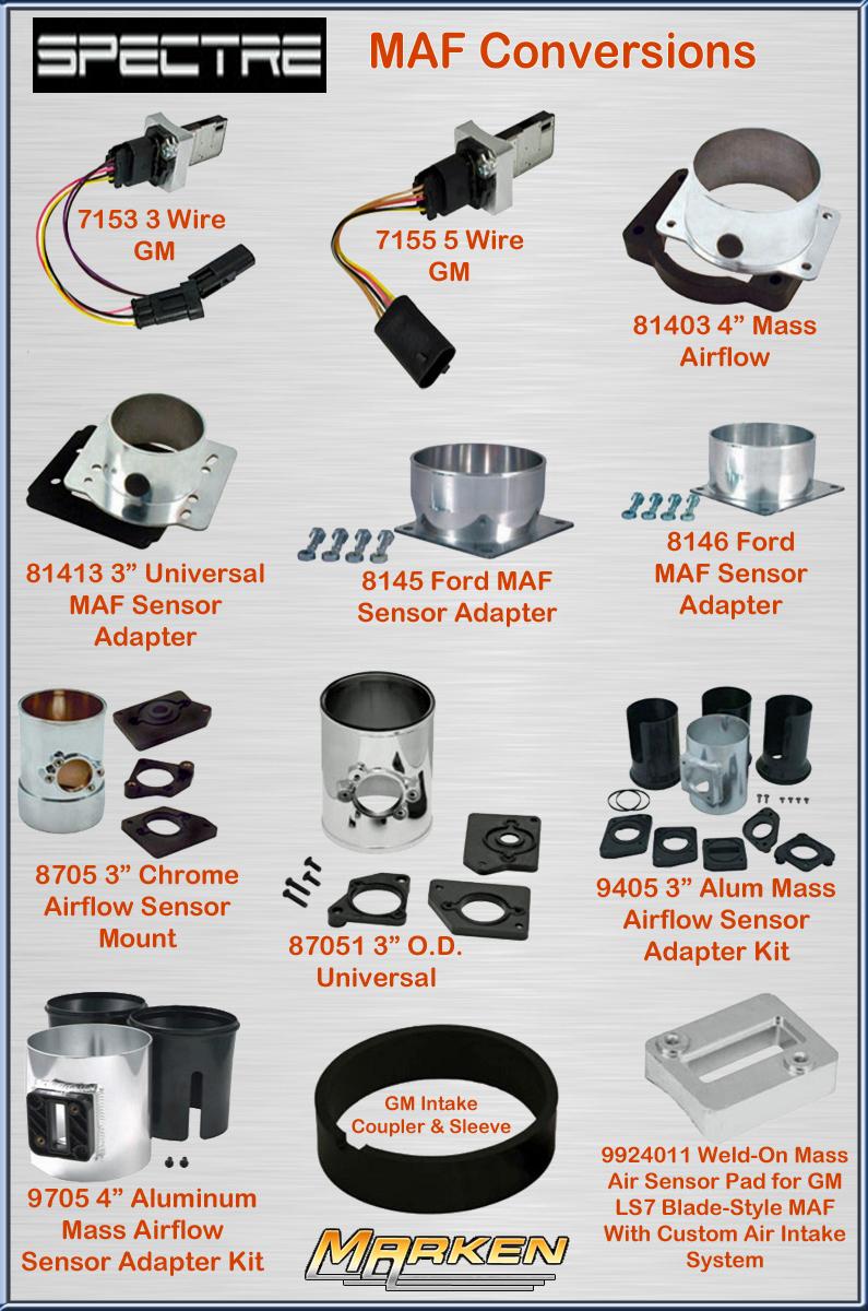 Spectre Mass air flow sensor adapter sleeve 990003