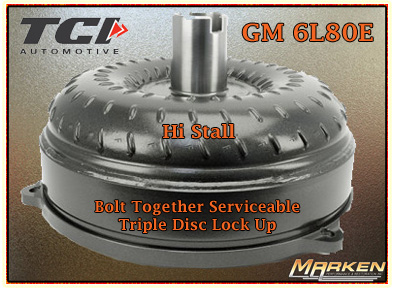 TCI Torque Converter for GM 6L80E AND Valve Body for Ford C6