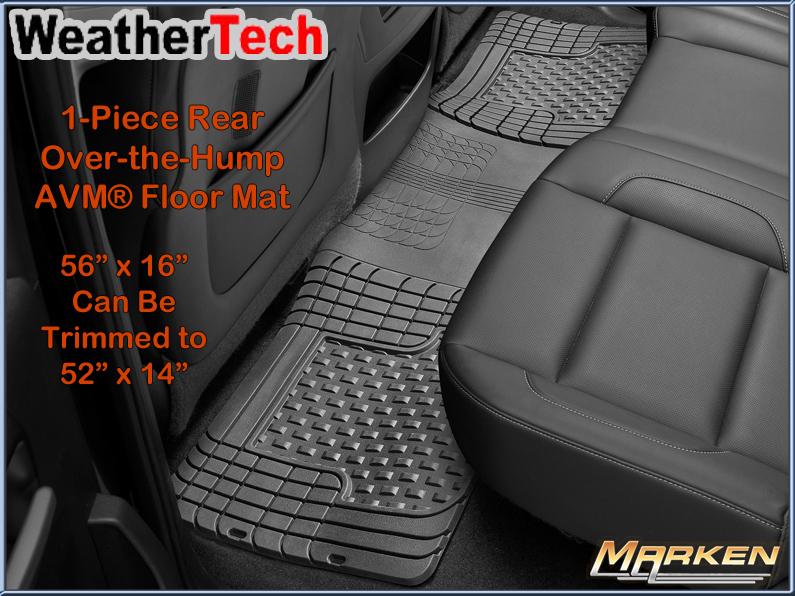 weathertech new 1 piece avm over the hump rear floormat