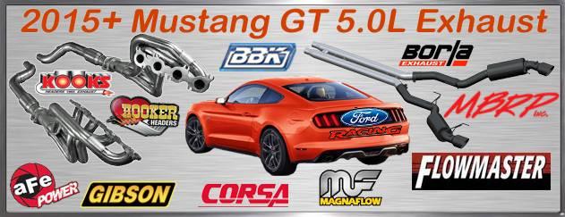 Exhaust, 2015 Mustang