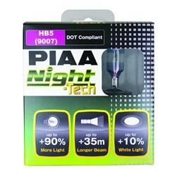 PIAA - 9007/HB5 Night-Tech Replacement Bulb - PIAA 10727 UPC: 722935107271