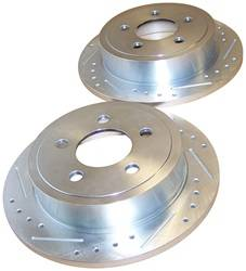 Crown Automotive - Drilled And Slotted Rotor Set - Crown Automotive 52128411DS UPC: 849603001621 - Image 1