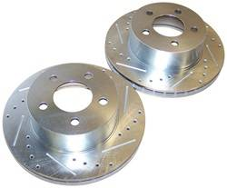Crown Automotive - Drilled And Slotted Rotor Set - Crown Automotive 52008440DS UPC: 849603001591 - Image 1