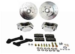 SSBC Performance Brakes - At The Wheels Only Competition Race 4-Piston Drum To Disc Conversion Kit - SSBC Performance Brakes W132-3BK UPC: 845249053406