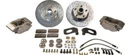 SSBC Performance Brakes - At The Wheels Only Competition Race 4-Piston Drum To Disc Conversion Kit - SSBC Performance Brakes W154-7BK UPC: 845249053642