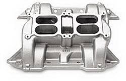 Edelbrock - CH-28 Dual-Quad Intake Manifold - Edelbrock 54401 UPC: 085347544011