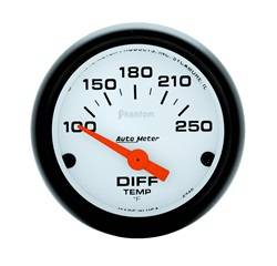 Auto Meter - Phantom Electric Differential Temperature Gauge - Auto Meter 5749 UPC: 046074057496 - Image 1