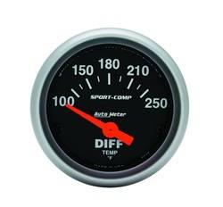 Auto Meter - Sport-Comp Electric Differential Temperature Gauge - Auto Meter 3349 UPC: 046074033490 - Image 1
